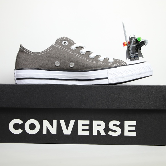 a14369dff883 Converse Charcoal Gray Classic All Star Low Tops
